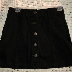 black denim forever21 skirt